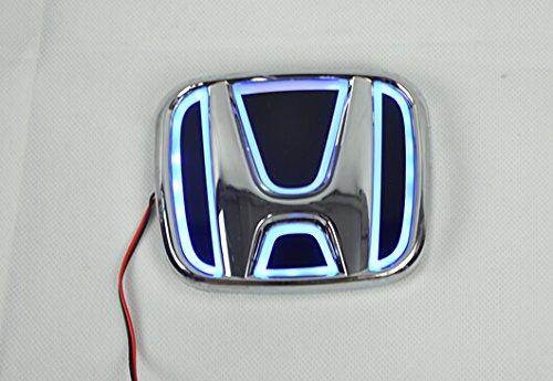 Car Led Emblem Lights Modify 5D Polar License Plate Lights Sticker Badge For Honda Civic Blue