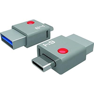 Emtec Duo Type C 64GB USB 3.0 Flash Drive (ECMMD64GT403)