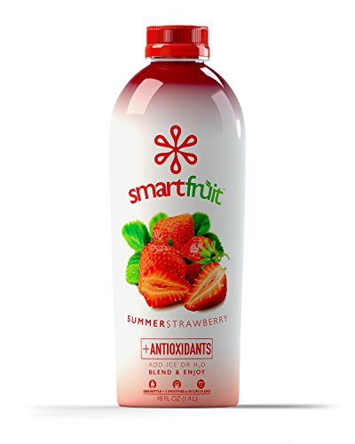 Smartfruit Summer Strawberry, 100% Real Fruit Smoothie Mix, No Added Sugar, Non-GMO, No Additives, Vegan, Family Pack 48 Fl. Oz (Pack of 1) (Fruit Smoothie compare prices)