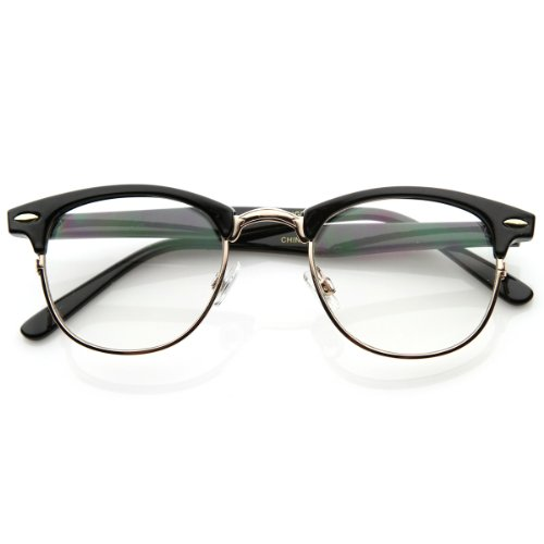 zeroUV - Optical Quality Horned Rim Clubmaste Style Clear Lens Specs