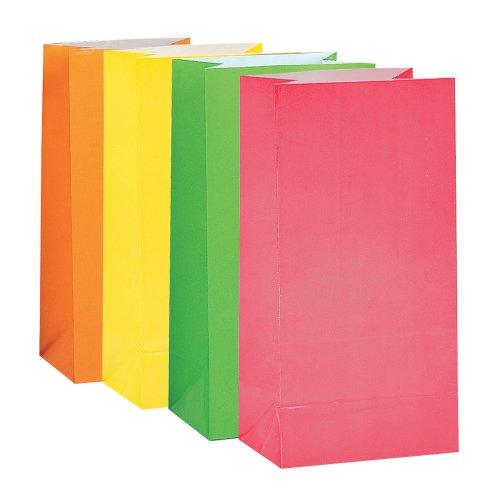 Unique Party - Paquete de 1o bolsas de papel para fiestas, multicolor (59016)