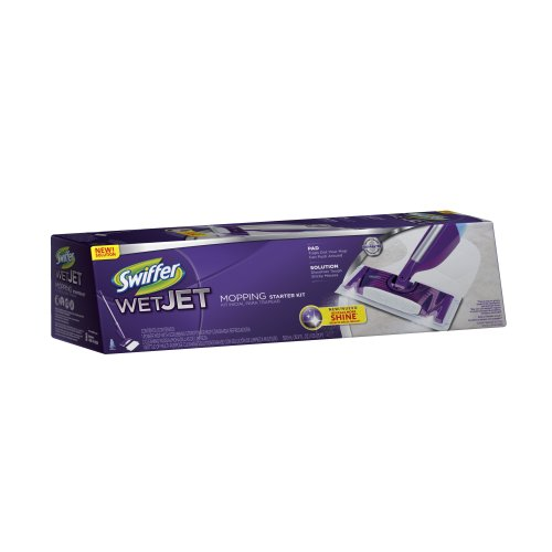 Swiffer WetJet Spray, Mop Floor Cleaner Starter Kit (Packaging May Vary)