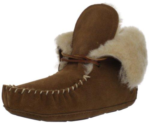 ACORN Women's Sheepskin Moxie Bootie Slipper,Chestnut,10 M US