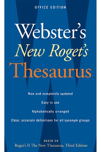 Houghton Mifflin AH-9780618955923 Websters New Rogets Thesaurus - 1