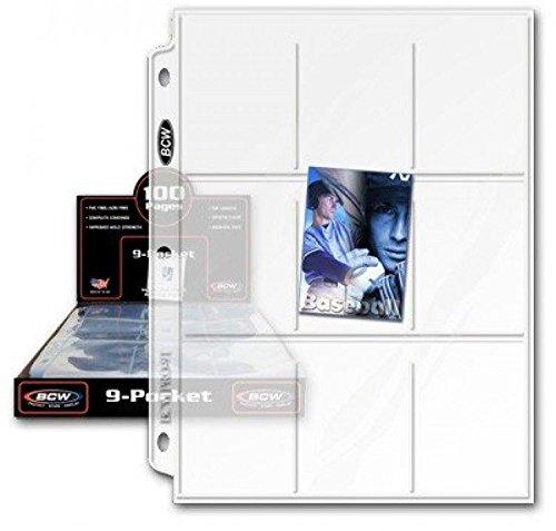 100 Bcw 9 Pocket Plastic Sheets New Free Shipping