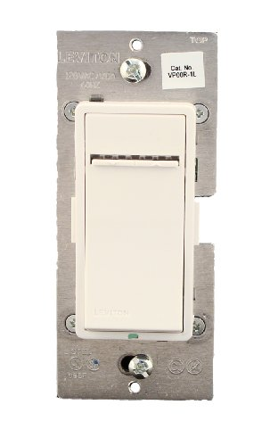 Leviton VP00R-1LW, Vizia + Digital Matching Remote Dimmer/Fan Speed Control, 3-Way or more applications, White