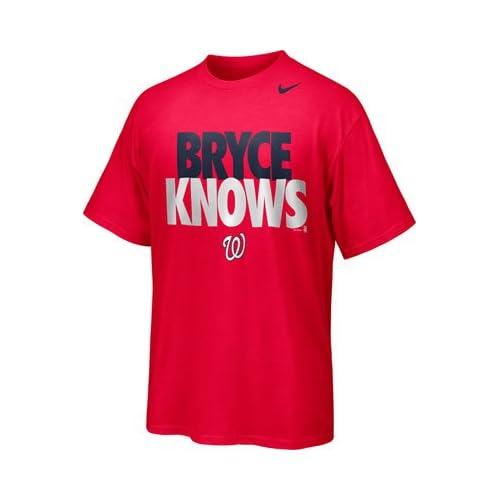 MLB Nike Washington Nationals ''Bryce Knows'' T-Shirt ...