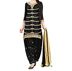 Krishna ECommerce Women's Salwar Suit Dress Material. (DecentBlack)