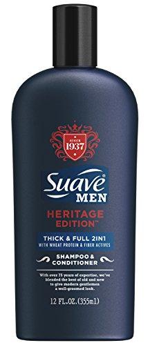 Suave Men Heritage Edition Shampoo & Conditioner, Thick & Full, 12 Ounce (Suave Men Shampoo And Conditioner compare prices)