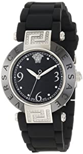 Versace Women's 92QCS91D008 S009 Reve Black Ceramic Stainless-Steel Rubber Watch