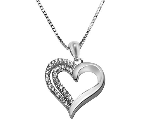 B&E 925 Sterling Silver Heart Necklace Pendant