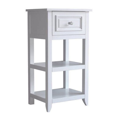 Elegant Home Fashions Dawson Floor Cabinet With Single Door, White