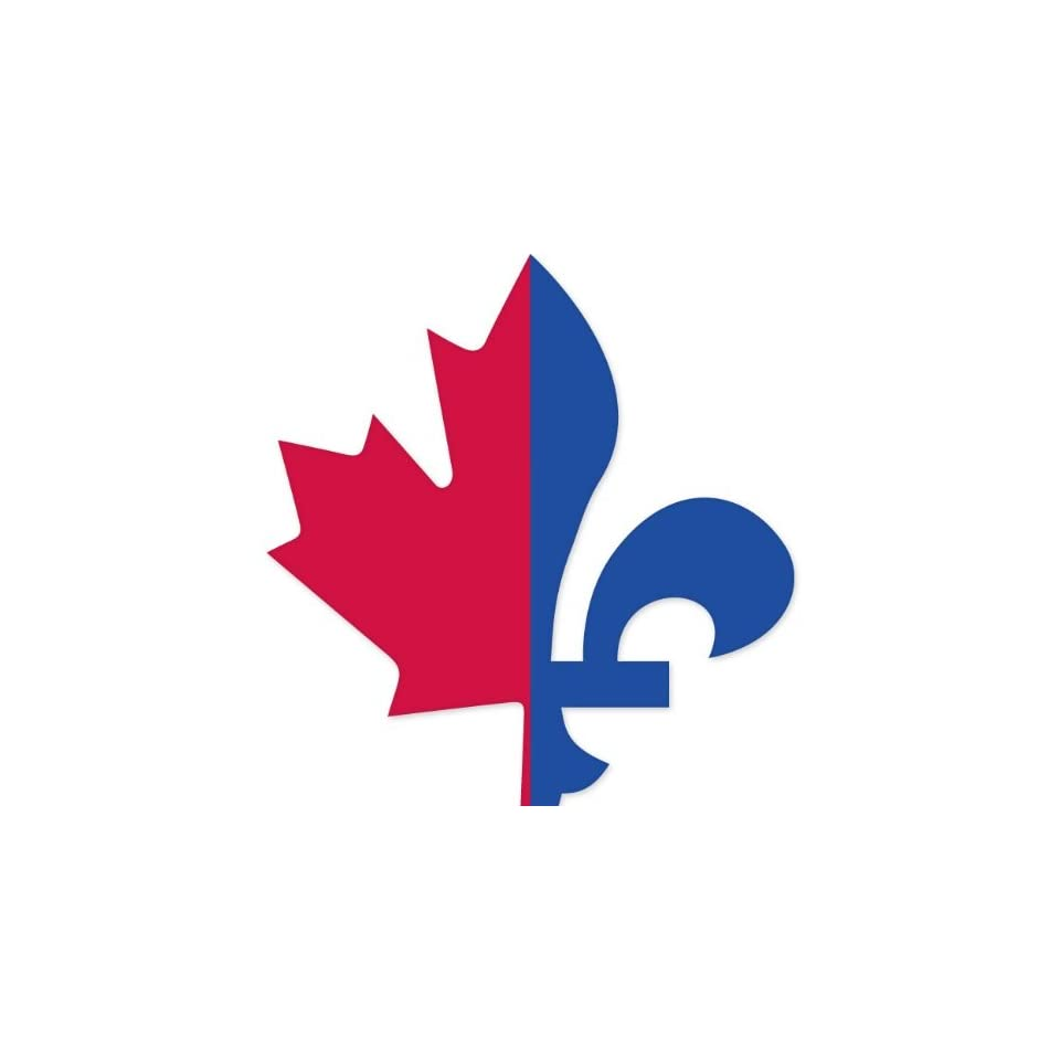 Quebec Canada Maple Leaf car bumper sticker 4 x 4