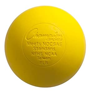 Champion Sports Official Lacrosse Balls (Yellow, Pack of 12) by Champion