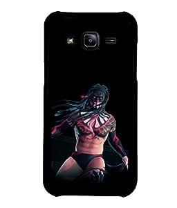printtech Tribal Man Wrestler Back Case Cover for Samsung Galaxy J2::Samsung Galaxy J2 J200F