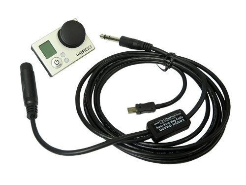 Atc Audio Recording Cable For Hero Gopro Hero3 In Your Airplane Hero3+