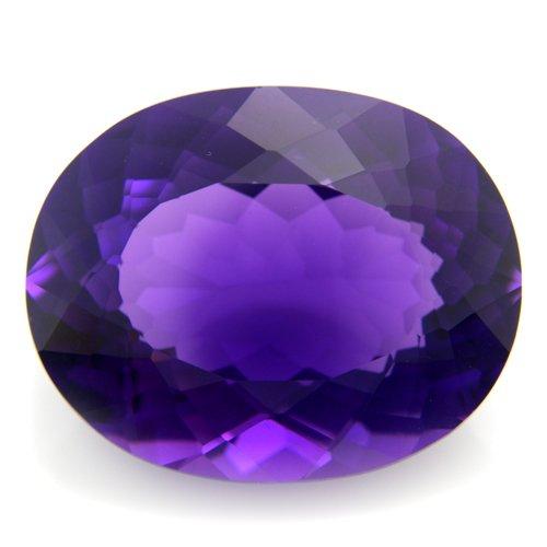 32.85cts Oval cut 25*20mm Grape Purple Amethyst Quartz Loose Gemstone VVS Grade