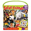 MASTERPIECES 60 PC SAFARI FRIENDS JIGSAW PUZZLE W/STICKERS