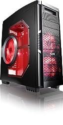 AZZA Solano 1000R CSAZ-1000R Full Tower Interior Paint Case (Black/Red)