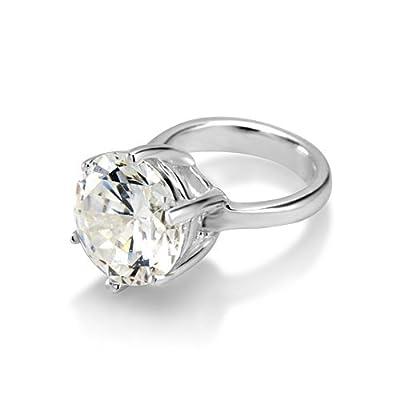 Diamond Ring Sterling Silver Charm Bead for Pandora Style Bracelet. Unusual. 110-988-44