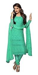 Fashion Bazaar Women's Georgette Unstitched Salwar Suit (Green )