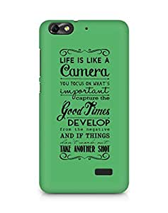 AMEZ life is like a camera Back Cover For Huawei Honor 4C