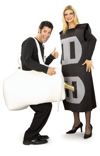 [Adult Plug & Socket Couples Costume] (Plug And Socket Costumes)