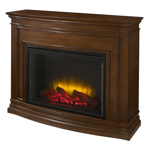 Pleasant Hearth 28-Inch Trent Mahogany Electric Fireplace