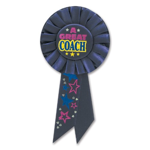 Beistle RS117 a Great Coach Rosette, 31/4-Inch by 61/2-Inch