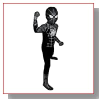 Black Spider-man Costume - Children's Small