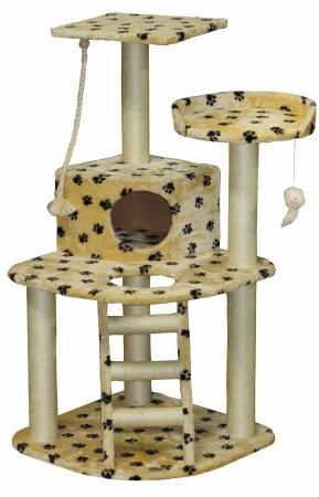 Go Pet Club Cat Tree Condo House Furniture, 48-Inch, Paw Print