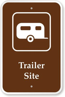 """Trailer Site (With Graphic) Sign, 18"""" X 12"""" front-817765"""