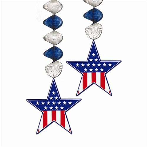 Patriotic Star Danglers Stars and Stripes - 1