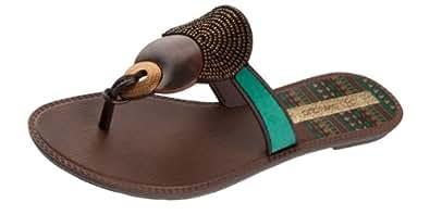 Grendha Kira femmes Flip Flops / Sandals - vert - SIZE EU 38
