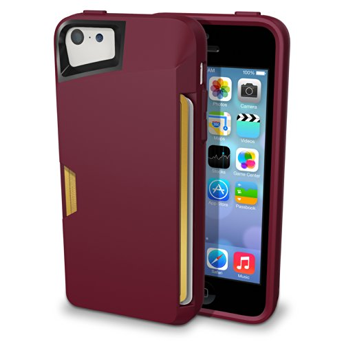 Iphone 5C Wallet Case - Slite Card Case For Iphone 5C By Cm4 - Purple Orchid - [Ultra Slim Protective Iphone Wallet]