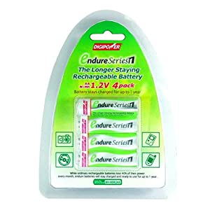 Digipower BHNDR2AA Endure AA Rechargeable 2000 mAh Batteries (4 Pack)