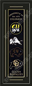 Heritage Banner Of Colorado Buffaloes With Team Color Double Matting-Framed Awesome... by Art and More, Davenport, IA