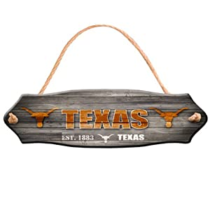 Buy NCAA Texas Longhorns Fence Wood Sign by Forever Collectibles
