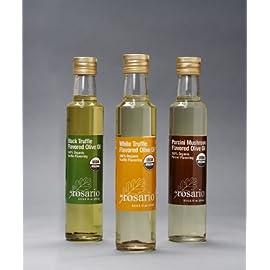 da Rosario 100% Organic Truffle Oils 3 - 8oz ea