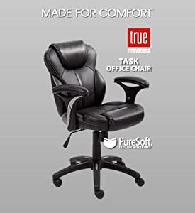 True Innovations Executive Office Chair Leather Office Task Chair Made For  Comfort .