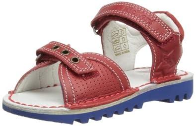 Kickers Boys Kick Jess Fashion Sandals 112662 Red 7 UK Child, 24 EU