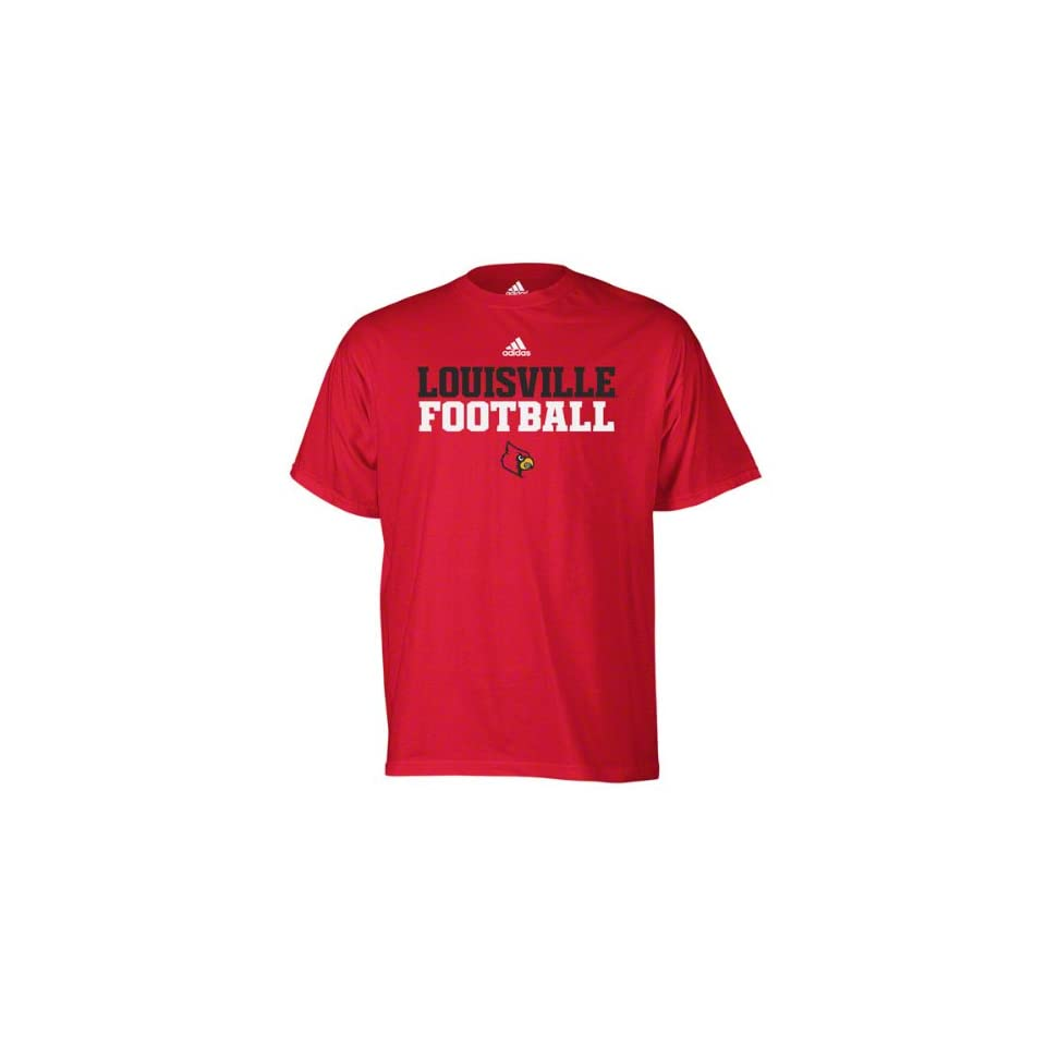 Louisville Cardinals Red Adidas 2011 Football Practice T Shirt