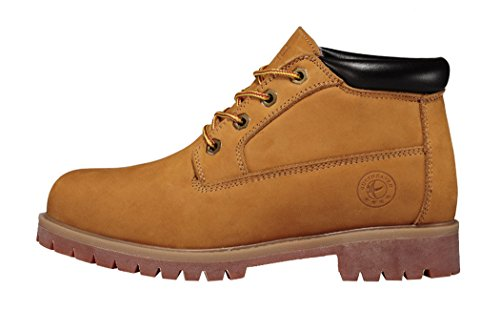 Guciheaven Winter Men New Style Caual Leather Cotton-Padded Shoes(7 D(M)Us, Tan)