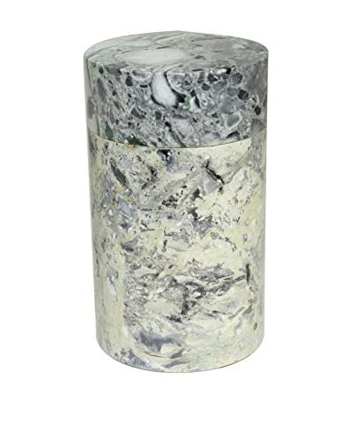 Uptown Down Marble Jar with a Lid, Grey