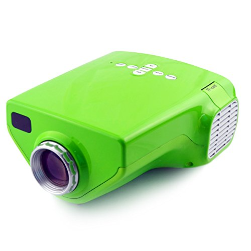 Aketek Hdmi Multimedia Portable Mini Hd Led Lcd Projector Cinema Theater With Music Photos Videos Compatible Support Vga/Usb/Sd/Av/Hdmi/Ef Interface£¨Green£©