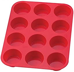 Dr Butler Non-stick Silicone Mini Muffin & Cupcake Baking Pans, 12 Cups