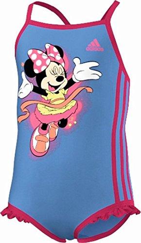 adidas Badeanzug Disney Suit Little Girls - Lucky Blue / Solar Pink - 116