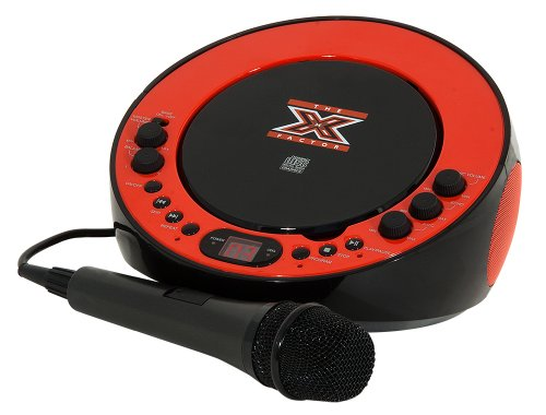 The X Factor LS-11 CDG Karaoke Machine - Red and Black