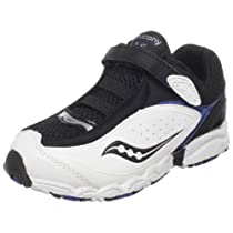 Saucony C2 Havok A/C Running Shoe (Toddler),Black/White/Royal,6 M US Toddler