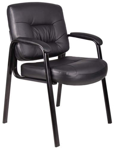 Boss Black Leather Plus Guest Chair Black
